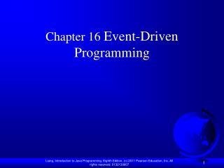 Chapter 16  Event-Driven Programming