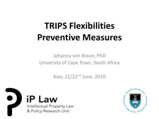 TRIPS Flexibilities Preventive Measures