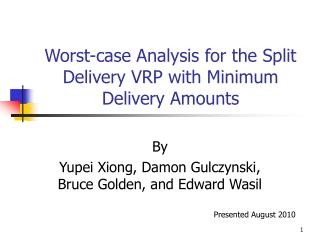 Worst-case Analysis for the Split Delivery VRP with Minimum Delivery Amounts