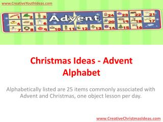 Christmas Ideas - Advent Alphabet