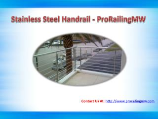 Benefit of Stainless Steel Handrail