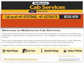 Luxury cab service in Melbourne