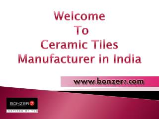Ceramic Floor Tiles Manufacturing in India