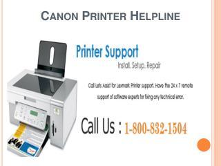 Canon Printer Helpline 1-800-832-1504 | Customer Support