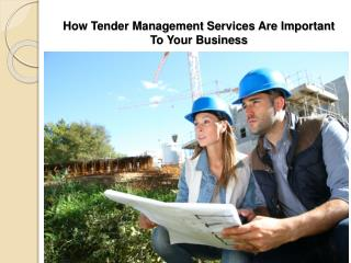 How Tender Management Services Are Important To Your Busines