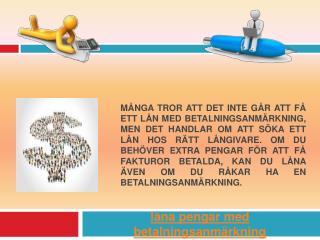 billan betalningsanmarkning