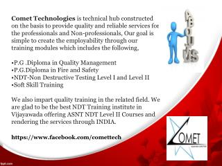 NDT Training,NDT Training Institute in Vijayawada