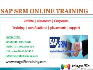 SAP SRM ONLINE TRAINING IN AUSTRALIA