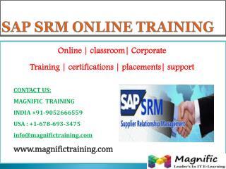 SAP SRM ONLINE TRAINING IN AUSTRALIA