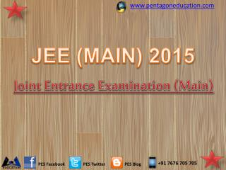 JEE (MAIN) 2015: Joint Entrance Examination Main 2015 Import