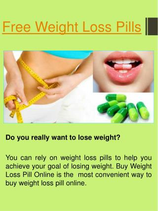 Weight Loss Pills Sample