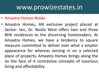 Best Deal  Amaatra Homes Noida, Noida Extension Projects