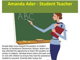 Amanda Ader - Student Teacher