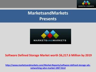 Software Defined Storage Market worth $6,217.6 Million 2019