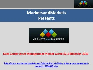 Data Center Asset Management Market worth $2.1 Billion by 20