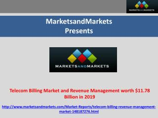 Telecom Billing Market and Revenue Management worth $11.78 B