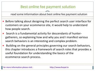 Feepal provide self service of best online fee payment solut