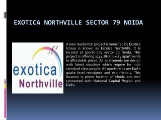 Exotica NorthVille Sector 79 Noida