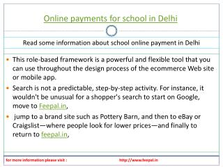 Feepal provide self service of online payment for school in