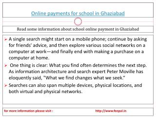 An important research an online payment for school in Ghazia