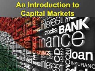 What is the Meaning of Capital Market?