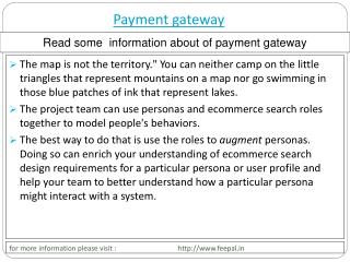 Some useful material about  payment  gateway