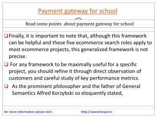New update about payment gateway for school