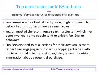 Top universities for MBA in India