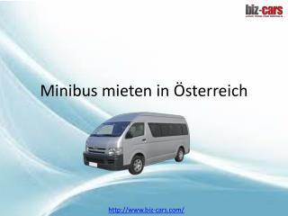 Minibusse mieten in Österreich
