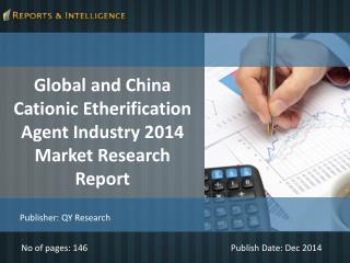 R&I: Global and China Cationic Etherification Agent Industry