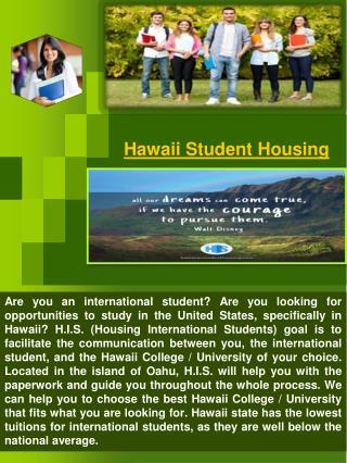 Hawaii International Students