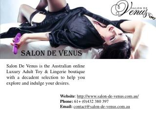 Adult Online Stores in Australia from Salon De Venus