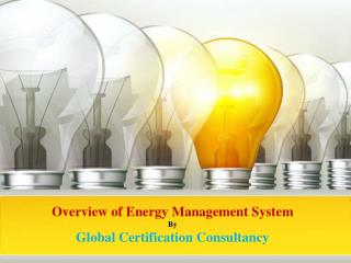 Overview of Energy Management System