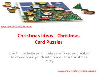 Christmas Ideas - Christmas Card Puzzler