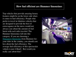 How fuel efficient are Hummer limousines