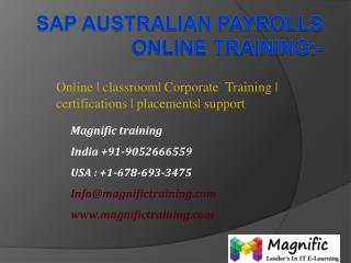 sap austrlia payrolls online training hyderabad