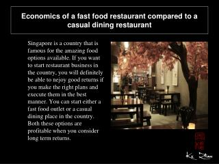 Economics of a fast food restaurant compared to a casual din