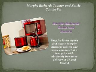 Morphy Richards Kettle and Toaster set | Kettles and Toaste