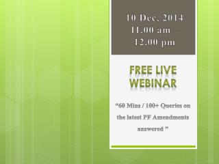"ADP welcomes you for an interesting webinar on ""60 Mins / 10"