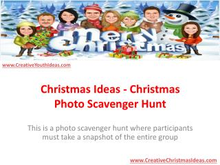 Christmas Ideas - Christmas Photo Scavenger Hunt