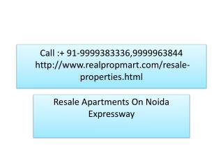 Resale Apartment On Noida Expressway