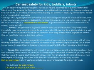 Car seat safety for kids, toddlers, infants