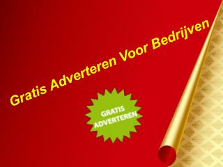 Top gratis advertentie in Nederland