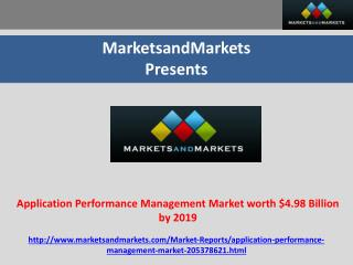 Application Performance Management Market worth $4.98 Billio