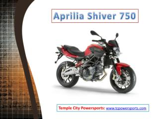 Aprilia Shiver 750 at Temple City Powersports