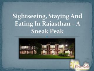 Sightseeing, Staying And Eating In Rajasthan – A Sneak Peak