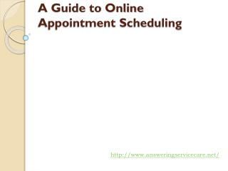 A Guide to Online Appointment Scheduling