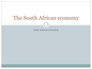 The South African economy