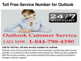 Toll free  toll free service number for outlook