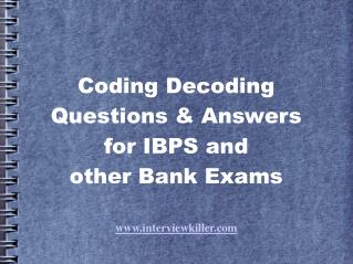 Coding Decoding Questions for IBPS - Interviewkiller
